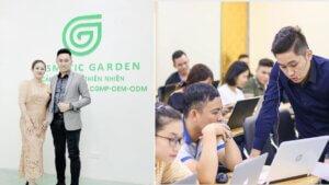 Banner Nguyễn Tất Kiểm thăm nhà máy Cosmetic Garden